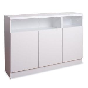 キャビネット リビング収納 サイドボード 薄型収納 扉 120幅 完成品|mirror-eames