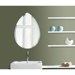 洗面鏡 化粧鏡 トイレ鏡 浴室鏡 クリスタルミラーシリーズ(ペア):クリアーミラー(通常の鏡) デラックスカットタイプ  壁掛け鏡 mirrorshop