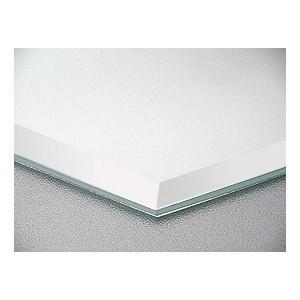 鏡 ミラー のカット販売。スーパークリアーミラー 高透過 超透明鏡, 5mm厚 約15ミリ幅面取り加工:406mmx305mm|mirrorshop