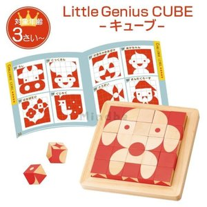 名前入り リトルジーニアス キューブ 木のおもちゃ つみき 積み木 知育玩具 カラフル 36ヶ月 3歳 男の子 女の子 お祝い クリスマスプレゼント 誕生日 プレゼントの画像