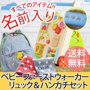 1歳 プレゼント 名入れリュック 名前入り よちよち歩きでおでかけセット 手押し車 誕生日 mirukuru