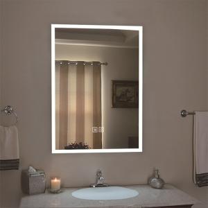 壁掛けミラー LEDミラー 横縦両用 サイズ50-70cm 調節可能 スマート 調光 調色可能 省み...