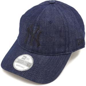 ニューエラ ニューヨーク・ヤンキース デニムキャップNEWERA 帽子 9TWENTY インディゴデニム/ブラック  11322598 FW16
