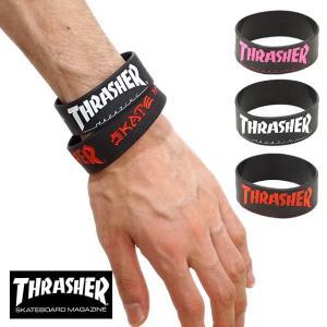 メール便送料無料 THRASHER スラッシャー ラバーバンド リストバンド THRRW100 FW17 メール便対応|mischief