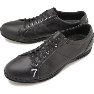 TOP SEVEN トップセブン TS-2101 レザースニーカー ALL BLK 靴 シューズ  SS18