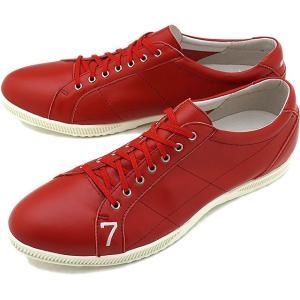 TOP SEVEN トップセブン TS-2101 レザースニーカー RED 靴 シューズ  SS18
