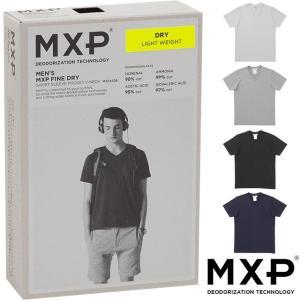 エムエックスピー MXP MENS メンズ Tシャツ ファインドライ ショートスリーブ ポケットVネ...