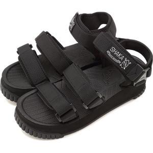 SHAKA シャカ サンダル ネオ バンジー プラットフォーム NEO BUNGY PLATFORM メンズ・レディース 厚底 ストラップ アウトドア 靴 BLACK ブラック系 SK433105|ミスチーフ PayPayモール店