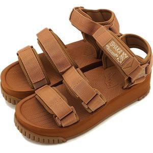 SHAKA シャカ サンダル ネオ バンジー プラットフォーム NEO BUNGY PLATFORM メンズ・レディース 厚底 ストラップ アウトドア 靴 MOCA ブラウン系 SK433105|ミスチーフ PayPayモール店
