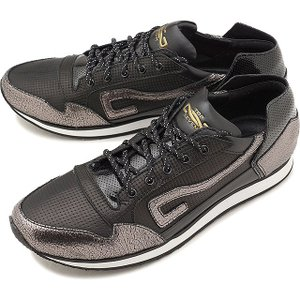 トップセブン TOP SEVEN メンズ パンチングレザー TS-5513 カジュアル スニーカー 靴 BLK/SIL ブラック系  EE6130 SS18|mischief