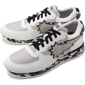 日本限定 アーバンサン URBAN SUN メンズ アンドレ ANDRE232 イタリア スニーカー 靴 ホワイト/ブラック カモ ホワイト系 SS19 mischief