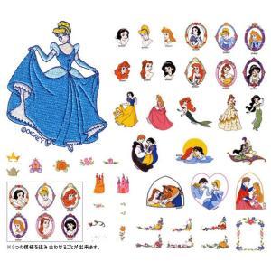 白雪姫、シンデレラ、眠れる森の美女、リトル・マーメイドなどの ディズニーの人気6姫の世界が刺しゅうカ...