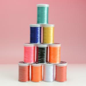 ブラザー ミシン ウルトラポス10色セット (#50,300M巻,ポリエステル100%)[刺繍糸]【...