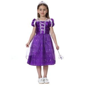 キッズ ハロウィン 衣装 塔の上のラプンツェル ラプンツェル コスチュームドレス 子供 Hallow...