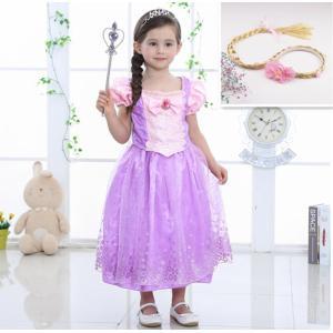 55fa9b682cf11 子供 塔の上のラプンツェル ラプンツェル コスチュームドレス キッズ 女の子 プリンセスドレス ハロウィン コスプレ衣装 クリスマス