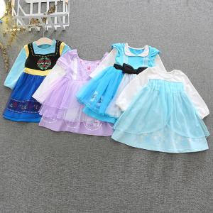 子供 ドレス キッズ 長袖 ワンピース アナ雪 エルサ アナ ソフィア アリス コスチュームドレス プリンセスドレス ハロウィン クリスマス プレゼント