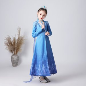 アナと雪の女王2 子供 コスチュームドレス エルサ アナ キッズ プリンセスドレス 子供 エルサワンピース ティアラ スティックセット