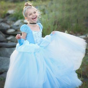 プリンセス シンデレラ 風 子供 コスチュームドレス キッズ プリンセスドレス ワンピース ティアラ...