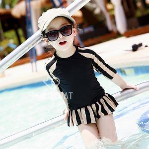 子供水着 キッズ 水着セット 子供用 女の子 水着 3点セット ラッシュガード 上下セット 日焼け対...