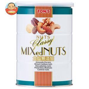 東洋ナッツ食品 トン 食塩無添加 クラッシー ミックスナッツ 360g缶×6個入|misono-support