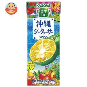 カゴメ 野菜生活100 沖縄シークヮーサーミックス 195ml紙パック×24本入|misono-support