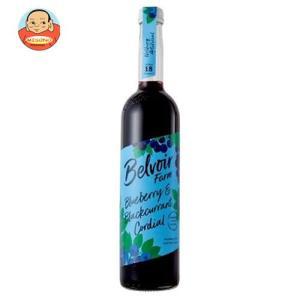 ユウキ食品 コーディアル ブルーベリー&ブラックカラント 500ml瓶×6本入|misono-support