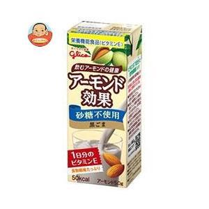グリコ乳業 アーモンド効果 黒ごま 200ml紙パック×24本入