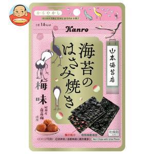 カンロ 海苔と紀州梅のはさみ焼き 4.4g×12(6×2)袋入|misono-support