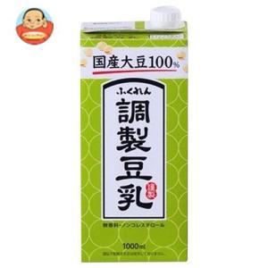 ふくれん 九州産ふくゆたか大豆 調製豆乳 1L紙パック×12(6×2)本入|misono-support