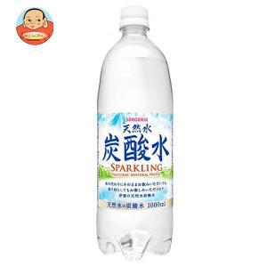 サンガリア 伊賀の天然水 炭酸水 1Lペットボトル×12本入