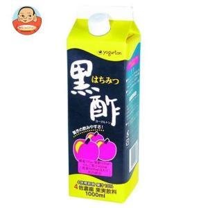 ヨーグルトン乳業 はちみつ黒酢 4倍濃縮 1000ml紙パック×8本入|misono-support