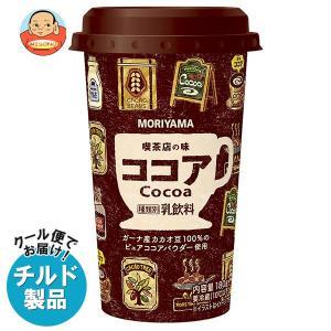 【送料無料】【チルド(冷蔵)商品】守山乳業 喫茶店の味 アイスココア 180g×12本入|misono-support