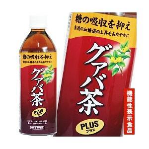 宝積飲料 グァバ茶プラス 500mlペットボトル×24本入