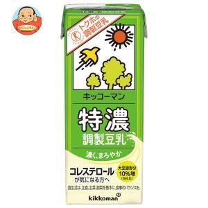 キッコーマン 特濃調製豆乳【特定保健用食品 特保】 200ml紙パック×18本入|misono-support