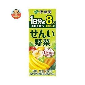 伊藤園 食物せんい野菜 200ml紙パック×24本入