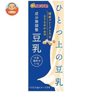 マルサンアイ ソイプレミアム ひとつ上の豆乳 成分無調整 200ml紙パック×24本入|misono-support