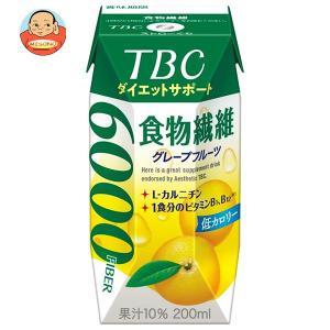 森永乳業 TBC 食物繊維 グレープフルーツ(プリズマ容器) 200ml紙パック×24本入|misono-support