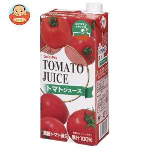 ゴールドパック トマトジュース 1L紙パック×6本入 味園サポート PayPayモール店