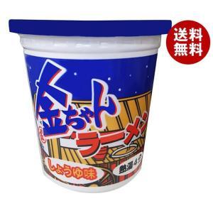 送料無料 徳島製粉 金ちゃんラーメンカップ しょうゆ味 71g×12個入