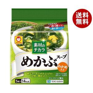 【送料無料】東洋水産 マルちゃん 素材のチカラ めかぶスープ (4.7g×5食)×6袋入 misonoya