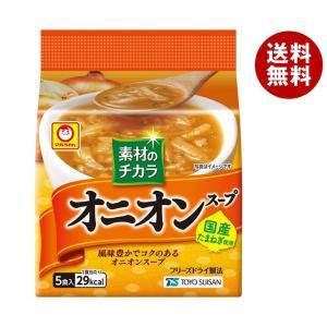 【送料無料】東洋水産 マルちゃん 素材のチカラ 国産オニオンスープ (7.3g×5食)×6袋入 misonoya