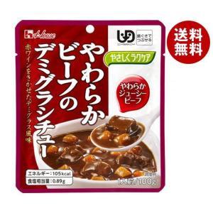 【送料無料】ハウス食品 やさしくラクケア やわらかビーフのデミグラシチュー 100g×40個入 misonoya