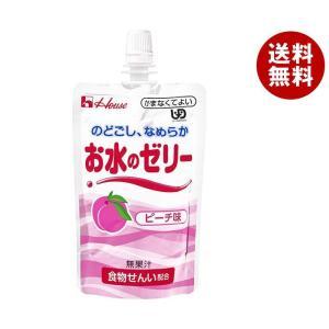 【送料無料】ハウス食品 お水のゼリー ピーチ味 120gパウチ×40個入|misonoya