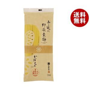 【送料無料】マル勝高田 手延べ野菜素麺 かぼちゃ 200g×20袋入|misonoya