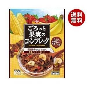 【送料無料】日清シスコ ごろっと果実のコーンフレーク 芳醇チョコ仕立て 200g×6袋入|misonoya