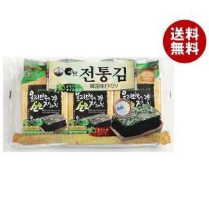 【送料無料】白子のり オリーブオイル韓国伝統のり 3袋詰(8切8枚)板のり3枚×12個入|misonoya