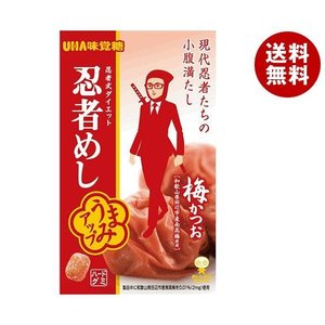 【送料無料】UHA味覚糖 忍者めし (梅かつお) 20g×10袋入|misonoya