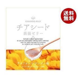 【送料無料】チアシード蒟蒻ゼリー アルフォンソマンゴー味 10個×12袋入|misonoya
