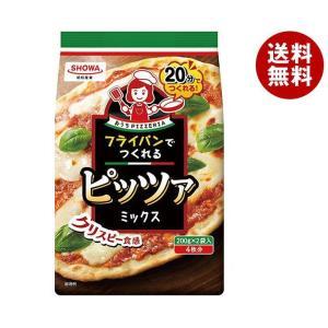 【送料無料】昭和産業 (SHOWA) フライパンでつくれるピッツァミックス 400g(200g×2袋)×6袋入|misonoya