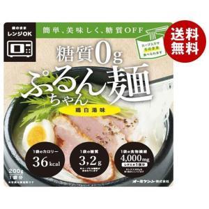 送料無料 【2ケースセット】オーミケンシ 糖質0g ぷるんちゃん麺 鶏白湯味 200g×12袋入×(2ケース)|MISONOYA PayPayモール店